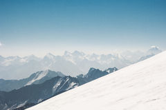Vista aerea del paesaggio delle montagne Fotografia Stock