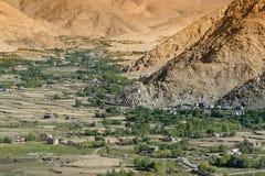 Vista aerea del paesaggio del ladakh Fotografia Stock Libera da Diritti