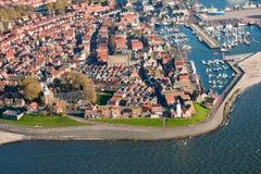 Vista aerea del paesino di pescatori Fotografia Stock