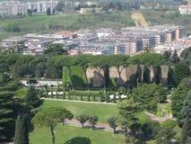 Vista aerea del parco in città Fotografia Stock Libera da Diritti