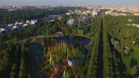 Vista aerea del parco di Amusment archivi video