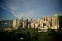 Vista aerea del parco di Hong Kong Fotografia Stock