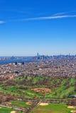 Vista aerea del parco di prospettiva a Brooklyn Fotografia Stock Libera da Diritti