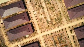 Vista aerea del parco del industril fotografia stock libera da diritti