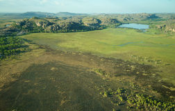 Vista aerea del parco nazionale di Kakadu Fotografia Stock