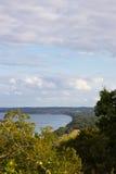 Vista aerea del parco nazionale di Stenshuvud Fotografia Stock