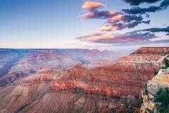 Vista aerea del parco nazionale del Grand Canyon, Arizona fotografie stock