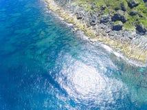 Vista aerea del parco nazionale kenting della linea costiera Fotografie Stock