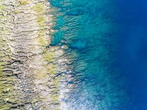 Vista aerea del parco nazionale kenting della linea costiera taiwan Fotografie Stock