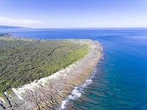 Vista aerea del parco nazionale kenting della linea costiera taiwan Fotografia Stock