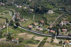 Vista aerea del pendio di collina Fotografia Stock