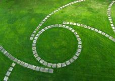 Vista aerea del percorso del giardino Fotografia Stock Libera da Diritti