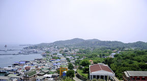 Vista aerea dell'isola di Sichang, Chonburi, Tailandia. fotografia stock