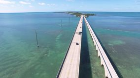 Vista aerea del ponte da sette miglia stock footage
