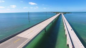 Vista aerea del ponte da sette miglia video d archivio