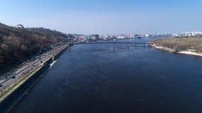 Vista aerea del ponte di Parkoviy fotografia stock