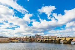 Vista aerea del ponticello del Charles a Praga fotografia stock