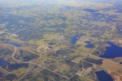 Vista aerea del porto di inverno Immagini Stock Libere da Diritti