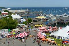 Vista aerea del porto di Rockland, Maine Immagine Stock