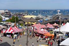 Vista aerea del porto di Rockland, Maine Fotografie Stock Libere da Diritti