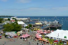 Vista aerea del porto di Rockland, Maine Fotografia Stock Libera da Diritti