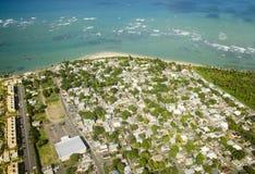 Vista aerea del Porto Rico del Nord Fotografia Stock Libera da Diritti