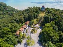 Vista aerea del punto di vista di Khao-Khad, le viste di 360 gradi a Phuket Fotografia Stock