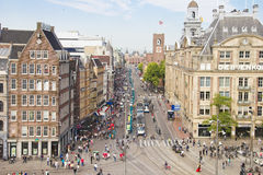 Vista aerea del quadrato della diga, Amsterdam Immagine Stock