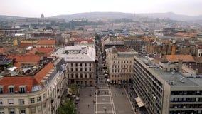 Vista aerea del quadrato di Istvan del san a Budapest video d archivio