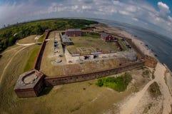 Vista aerea del ribattino forte - Florida immagini stock libere da diritti