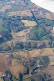 Vista aerea del ` s del campo di agricoltura Fotografie Stock Libere da Diritti