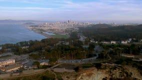 Vista aerea del San Francisco City Skyline, California, U.S.A. stock footage