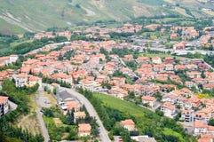 Vista aerea del San Marino Fotografia Stock Libera da Diritti