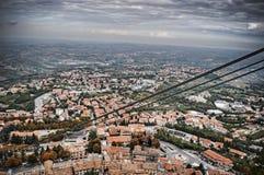 Vista aerea del San Marino Fotografia Stock