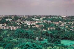 Vista aerea del segretariato Ibadan Nigeria del governo statale di Oyo immagini stock