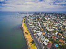 Vista aerea del sobborgo costiero di Williamstown a Melbourne, Australia Immagine Stock Libera da Diritti