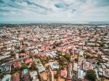 Vista aerea del sobborgo costiero di Williamstown a Melbourne, Australia Fotografia Stock Libera da Diritti