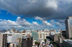 Vista aerea del sobborgo di Tokyo immagini stock