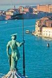 Vista aerea del teleobiettivo di Venezia dalla chiesa di San Giorgio Maggiore Fotografia Stock