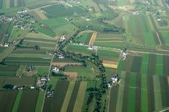 Vista aerea del terreno coltivabile fotografie stock libere da diritti