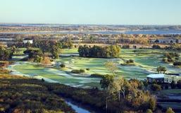 Vista aerea del terreno da golf Immagini Stock Libere da Diritti