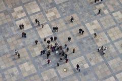 Vista aerea del terzo cortile del castello di Praga Fotografia Stock Libera da Diritti