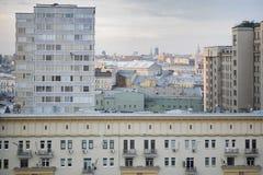 Vista aerea del tetto sul centro storico di Mosca dal punto di vista Fotografia Stock