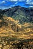 Vista aerea del Tibet Fotografia Stock