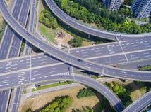 Vista aerea del viadotto Fotografie Stock