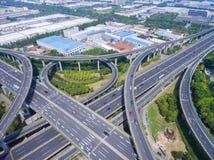 Vista aerea del viadotto Immagini Stock