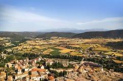 Vista aerea del villaggio Fotografia Stock Libera da Diritti