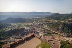 Vista aerea del villaggio Fotografia Stock