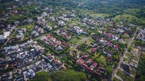 Vista aerea del villaggio fotografie stock libere da diritti