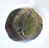 Vista aerea del villaggio carpatico Fotografia Stock Libera da Diritti